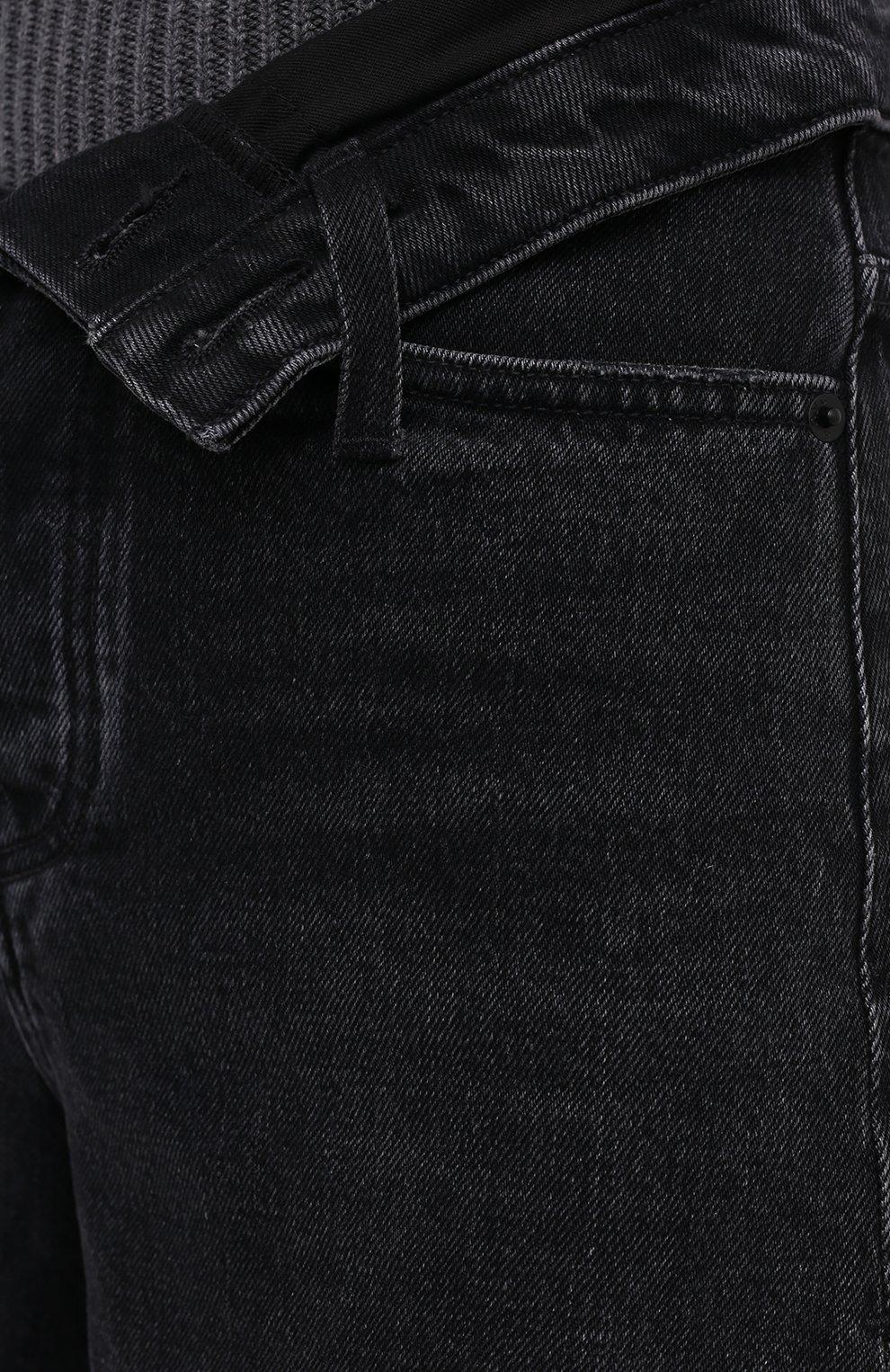 Женские джинсовые шорты DENIM X ALEXANDER WANG серого цвета, арт. 4DC2194542 | Фото 5 (Женское Кросс-КТ: Шорты-одежда; Кросс-КТ: Деним; Длина Ж (юбки, платья, шорты): Мини; Материал внешний: Хлопок; Стили: Кэжуэл)