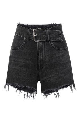 Женские джинсовые шорты DENIM X ALEXANDER WANG серого цвета, арт. 4DC1214873   Фото 1
