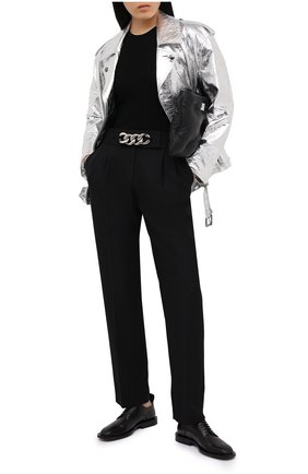 Женские брюки ALEXANDER WANG черного цвета, арт. 1WC2204300   Фото 2