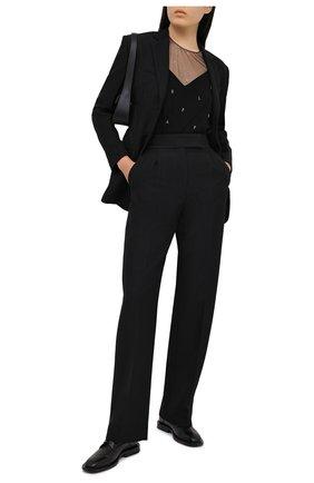 Женские брюки ALEXANDER WANG черного цвета, арт. 1WC2204295 | Фото 2