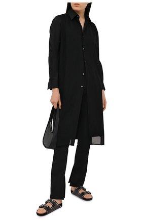 Женские брюки из хлопка и вискозы ALEXANDER WANG черного цвета, арт. 1WC2194172 | Фото 2