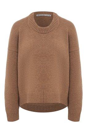 Женский шерстяной свитер ALEXANDER WANG коричневого цвета, арт. 1KC2201008 | Фото 1
