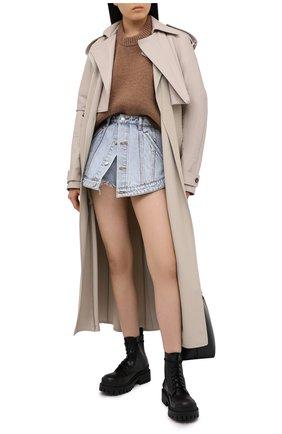 Женский шерстяной свитер ALEXANDER WANG коричневого цвета, арт. 1KC2201008 | Фото 2