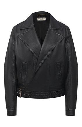 Женская кожаная куртка SAINT LAURENT черного цвета, арт. 644265/YC20C | Фото 1