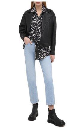 Женская кожаная куртка SAINT LAURENT черного цвета, арт. 644265/YC20C | Фото 2