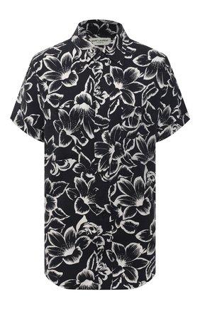 Женская рубашка SAINT LAURENT черно-белого цвета, арт. 648017/Y01CC | Фото 1