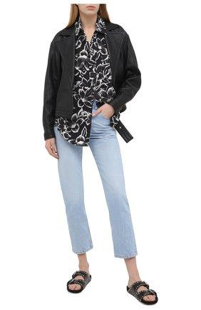 Женская рубашка SAINT LAURENT черно-белого цвета, арт. 648017/Y01CC | Фото 2