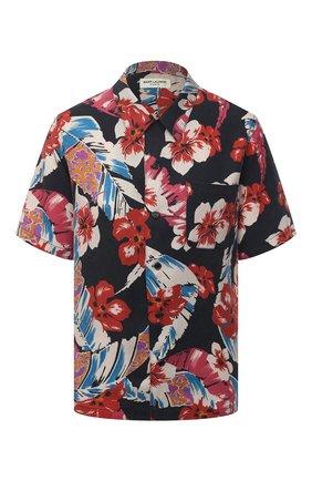 Женская рубашка SAINT LAURENT разноцветного цвета, арт. 648011/Y01FD | Фото 1