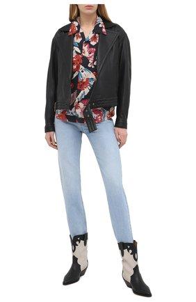 Женская рубашка SAINT LAURENT разноцветного цвета, арт. 648011/Y01FD | Фото 2