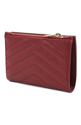 Женские кожаное портмоне SAINT LAURENT красного цвета, арт. 575974/B0W01 | Фото 2