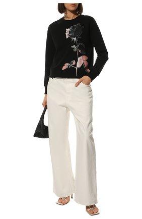 Женский хлопковый свитшот ALEXANDER MCQUEEN черного цвета, арт. 653559/QZACT | Фото 2