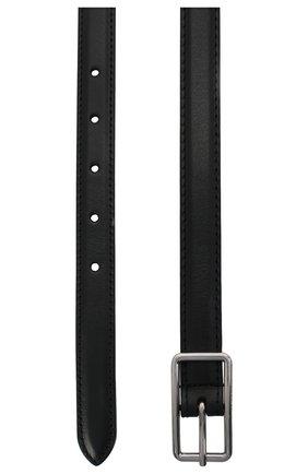 Женский кожаный ремень ALEXANDER MCQUEEN черного цвета, арт. 640664/1BR0I | Фото 2 (Материал: Кожа)