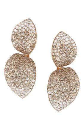 Женские серьги PASQUALE BRUNI бесцветного цвета, арт. 15226R | Фото 1 (Драгоценные камни: Бриллианты; Материал сплава: Розовое золото)