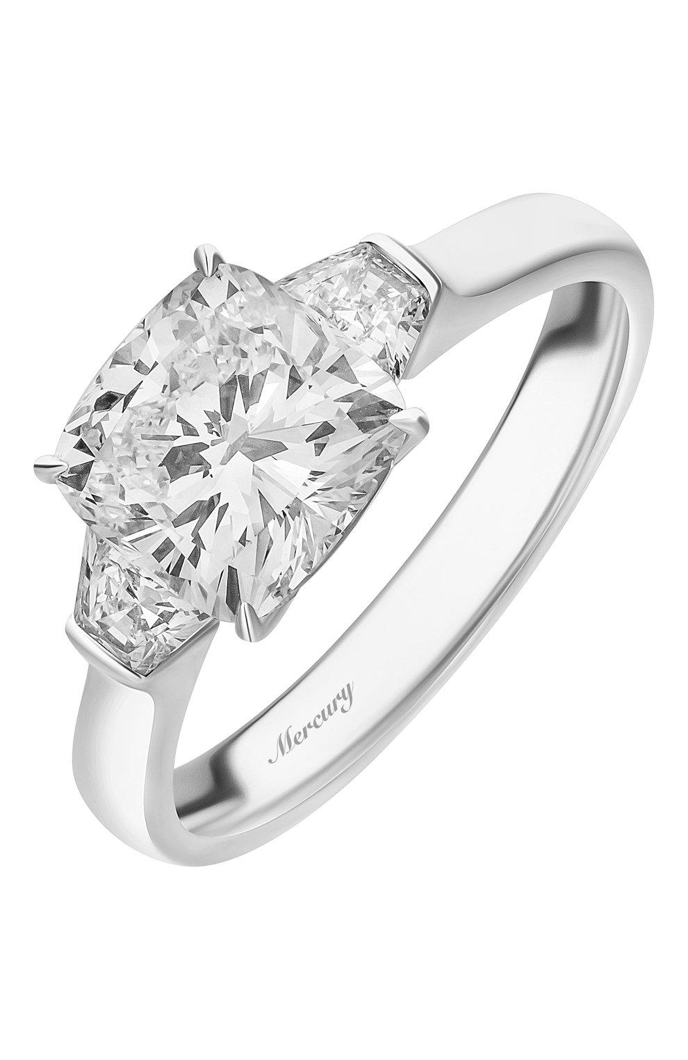 Женские кольцо MERCURY бесцветного цвета, арт. MR200WCDBT | Фото 1 (Материал сплава: Белое золото; Драгоценные камни: Бриллианты)