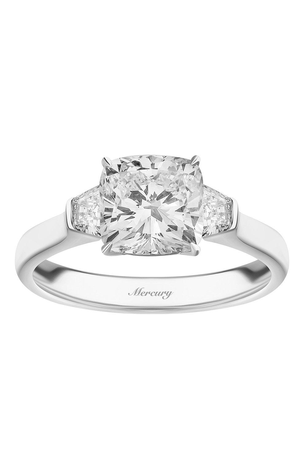 Женские кольцо MERCURY бесцветного цвета, арт. MR200WCDBT | Фото 2 (Материал сплава: Белое золото; Драгоценные камни: Бриллианты)