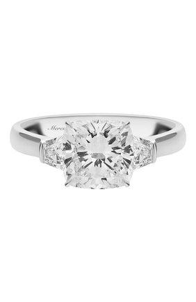 Женские кольцо MERCURY бесцветного цвета, арт. MR200WCDBT | Фото 3 (Материал сплава: Белое золото; Драгоценные камни: Бриллианты)