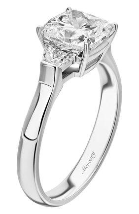 Женские кольцо MERCURY бесцветного цвета, арт. MR200WCDBT | Фото 4 (Материал сплава: Белое золото; Драгоценные камни: Бриллианты)