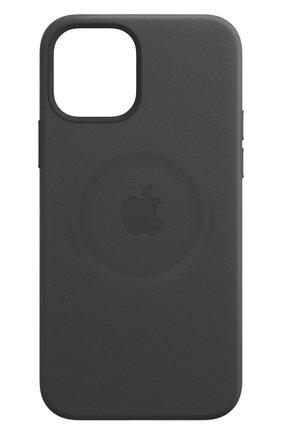 Мужской чехол magsafe для iphone 12/12 pro APPLE  black цвета, арт. MHKG3ZE/A | Фото 1