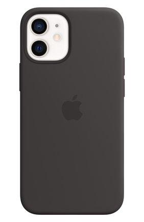 Мужской чехол magsafe для iphone 12 mini APPLE  black цвета, арт. MHKX3ZE/A | Фото 1