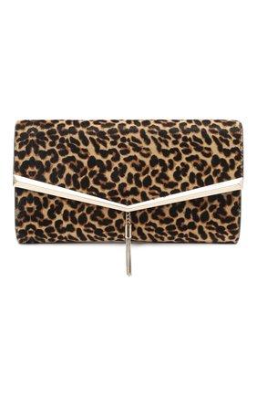 Женский клатч elish JIMMY CHOO леопардового цвета, арт. ELISH/HYT | Фото 1