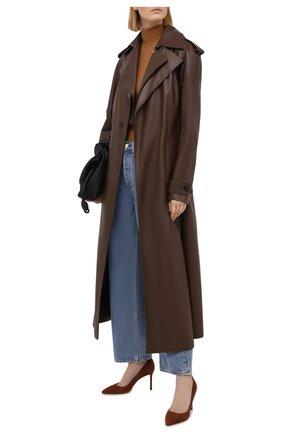 Женские замшевые туфли romy 85 JIMMY CHOO коричневого цвета, арт. R0MY 85/SUE | Фото 2