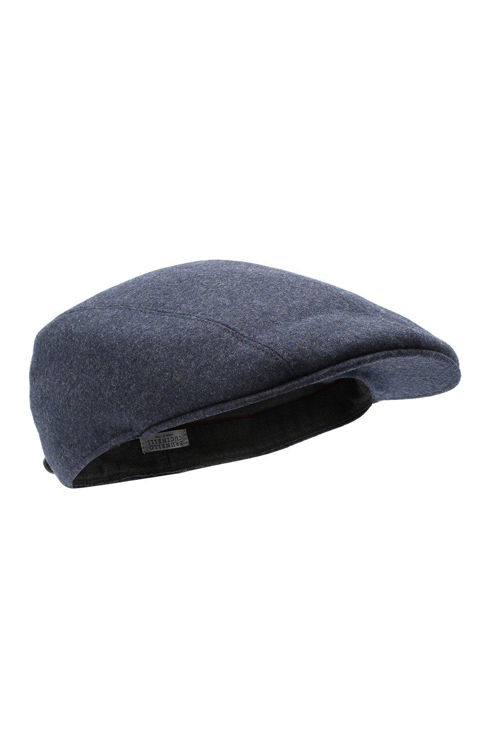 Мужская шерстяное кепи BRUNELLO CUCINELLI синего цвета, арт. M038P9958   Фото 1