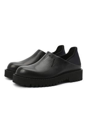 Мужские кожаные лоферы VALENTINO черного цвета, арт. VY2S0E05/TRW   Фото 1 (Стили: Кэжуэл; Мужское Кросс-КТ: Лоферы-обувь; Материал внутренний: Натуральная кожа)