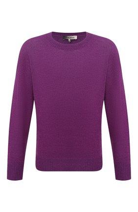 Мужской свитер из шерсти и льна ISABEL MARANT фиолетового цвета, арт. PU0709-21P048H/SAMUEL | Фото 1