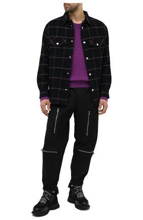 Мужской свитер из шерсти и льна ISABEL MARANT фиолетового цвета, арт. PU0709-21P048H/SAMUEL | Фото 2