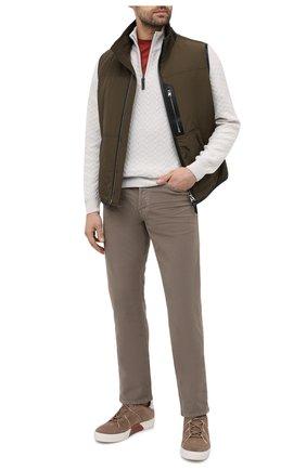 Мужские джинсы TOM FORD коричневого цвета, арт. BWJ41/TFD002   Фото 2
