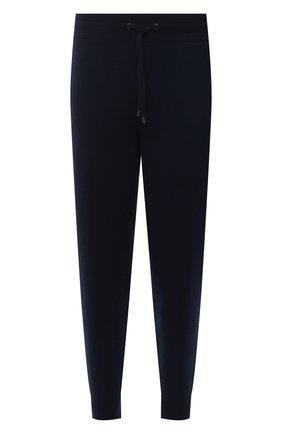 Мужские кашемировые джоггеры BURBERRY синего цвета, арт. 8037935 | Фото 1 (Мужское Кросс-КТ: Брюки-трикотаж; Материал внешний: Кашемир, Шерсть; Длина (брюки, джинсы): Стандартные; Стили: Спорт-шик; Силуэт М (брюки): Джоггеры)