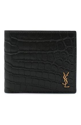 Мужской кожаное портмоне SAINT LAURENT черного цвета, арт. 610193/DZEDW | Фото 1