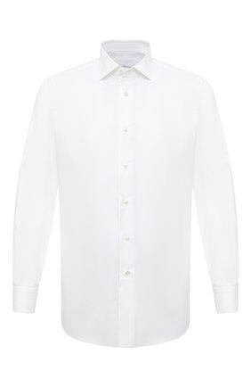 Мужская хлопковая сорочка BRIONI белого цвета, арт. RCBE0L/0905B | Фото 1