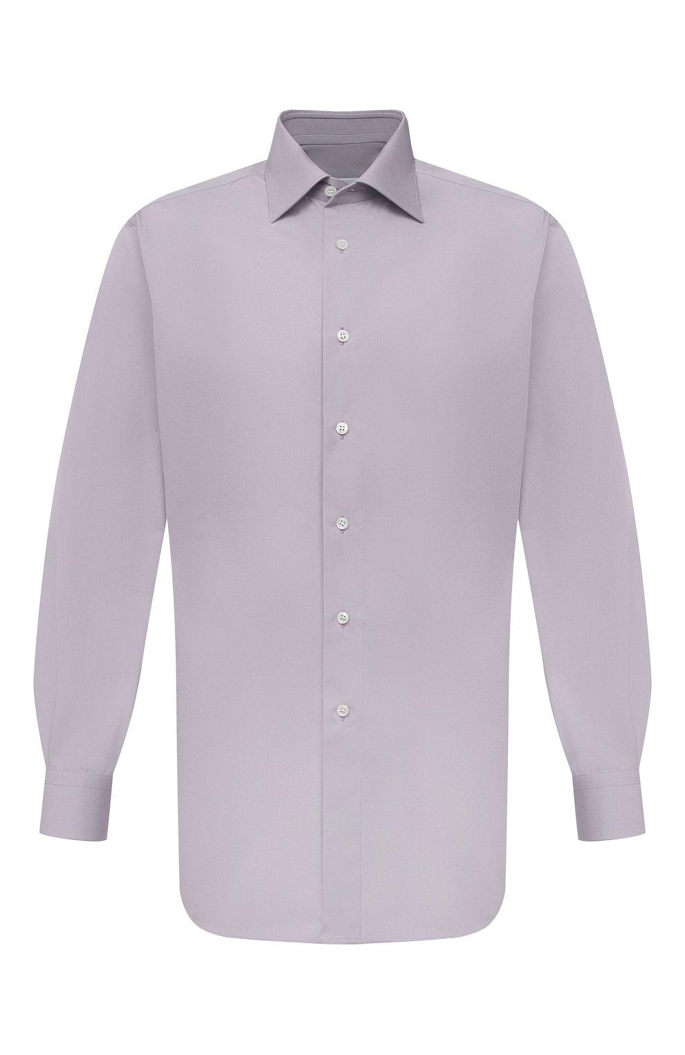 Мужская хлопковая сорочка BRIONI сиреневого цвета, арт. RCA20M/P006B   Фото 1