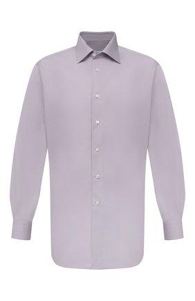 Мужская хлопковая сорочка BRIONI сиреневого цвета, арт. RCA20M/P006B | Фото 1