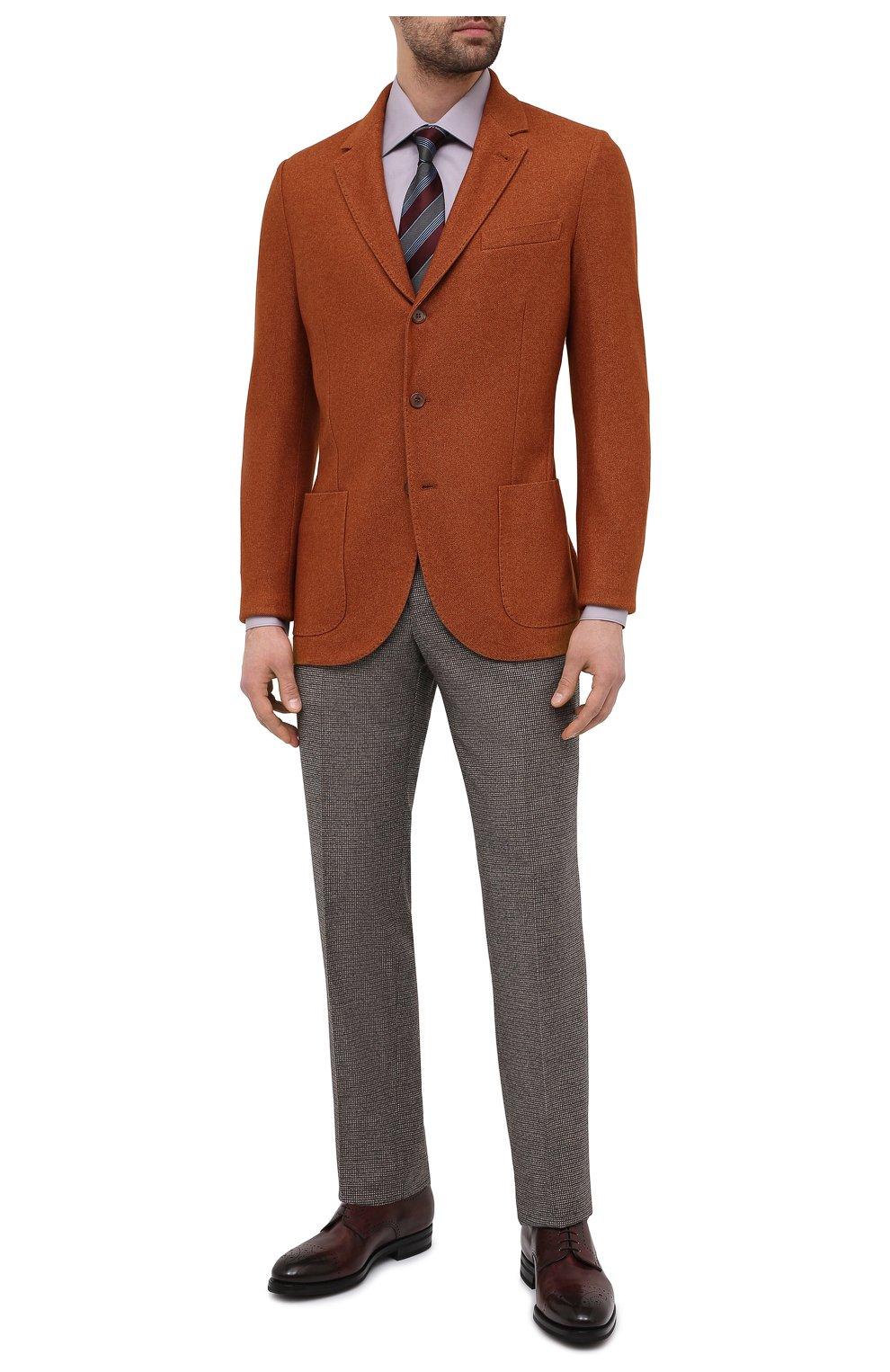 Мужская хлопковая сорочка BRIONI сиреневого цвета, арт. RCA20M/P006B   Фото 2