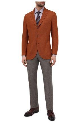 Мужская хлопковая сорочка BRIONI сиреневого цвета, арт. RCA20M/P006B | Фото 2