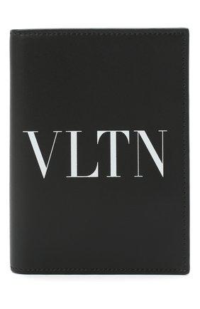 Мужской кожаная обложка для паспорта valentino garavani VALENTINO черно-белого цвета, арт. VY2P0R66/LVN | Фото 1