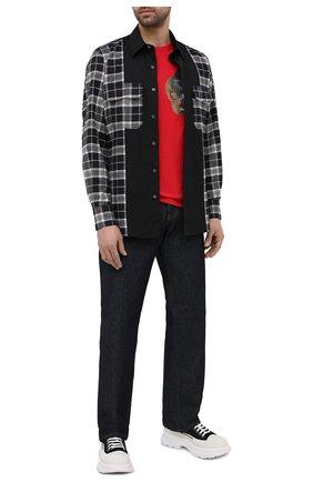 Мужская хлопковая футболка ALEXANDER MCQUEEN красного цвета, арт. 649875/QQZ55   Фото 2