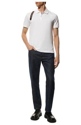 Мужское хлопковое поло ALEXANDER MCQUEEN белого цвета, арт. 625245/QQX33 | Фото 2 (Длина (для топов): Стандартные; Застежка: Пуговицы; Стили: Кэжуэл; Материал внешний: Хлопок; Рукава: Короткие)