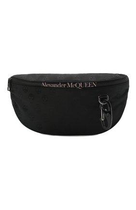 Мужская текстильная поясная сумка ALEXANDER MCQUEEN черного цвета, арт. 605053/1AAAK | Фото 1