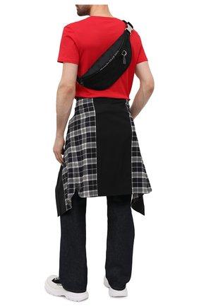 Мужская текстильная поясная сумка ALEXANDER MCQUEEN черного цвета, арт. 605053/1AAAK | Фото 2
