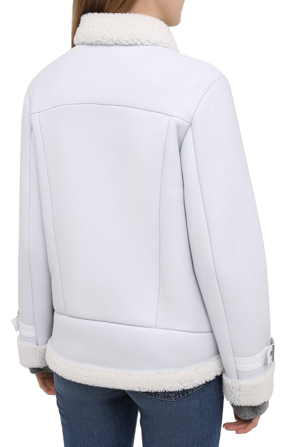 Женская дубленка MASLOV белого цвета, арт. WS234 | Фото 4