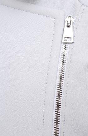 Женская дубленка MASLOV белого цвета, арт. WS234 | Фото 5