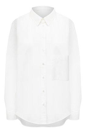 Женская хлопковая рубашка BOSS белого цвета, арт. 50436923 | Фото 1
