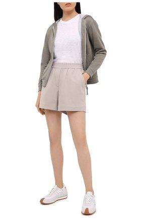 Женские хлопковые шорты BRUNELLO CUCINELLI светло-бежевого цвета, арт. MH827SF389 | Фото 2