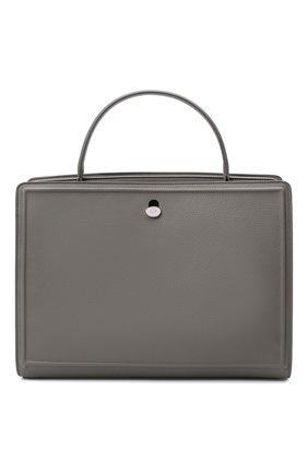 Женская сумка LORO PIANA светло-серого цвета, арт. FAL3214 | Фото 1 (Материал: Натуральная кожа; Сумки-технические: Сумки top-handle, Сумки через плечо; Размер: medium)