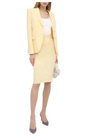 Женские замшевые туфли GIORGIO ARMANI светло-серого цвета, арт. X1E891/XC067 | Фото 2