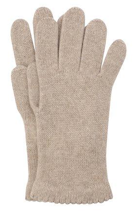 Женские перчатки BILANCIONI светло-бежевого цвета, арт. 4908GU   Фото 1
