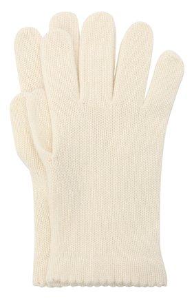 Женские перчатки BILANCIONI белого цвета, арт. 4908GU   Фото 1
